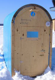 Ice fishing shack plans for Hunting hut plans